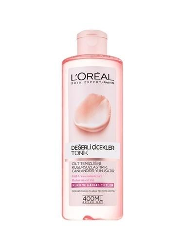 L'Oréal Paris Loreal Paris Değerli Çiçekler Kuru&Hassas Ciltler 400 ml Tonik Renksiz
